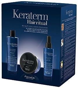 Fanola Kit KERATERM Hair Ritual Keratina - Champú 300 mL + Mascarilla 300 mL + Spray 200 mL