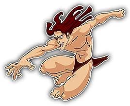cartoon Tarzan Jumping Car Bumper Sticker Decal - Longer Side 14''