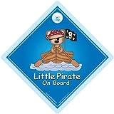 Petit Pirate à bord, voiture, voiture Pirate Petit Pirate Motif Pirate-brise, Sticker mural en vinyle Motif Bébé...