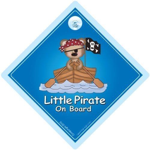 Petit Pirate à bord, voiture, voiture Pirate Petit Pirate Motif Pirate-brise, Sticker mural en vinyle Motif Bébé Voiture