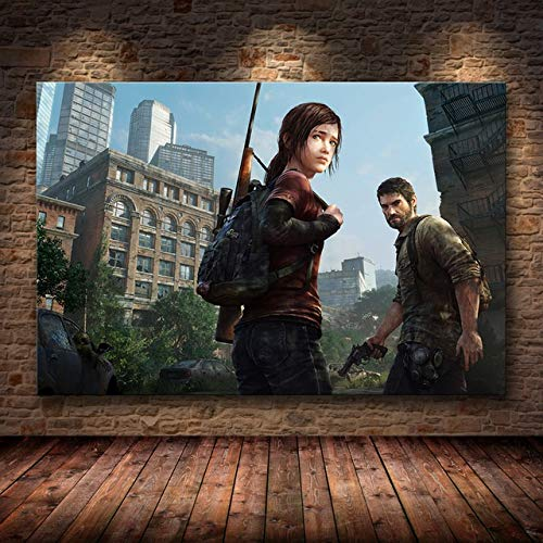Mode Leinwand Malerei The Last of Us Spiel Plakat-Druck Zombie Survival Horror Action-HD Poster Malerei Home Decor for Wand-Kunst (Color : 37, Size (Inch) : 50cmX75cm(No Frame))