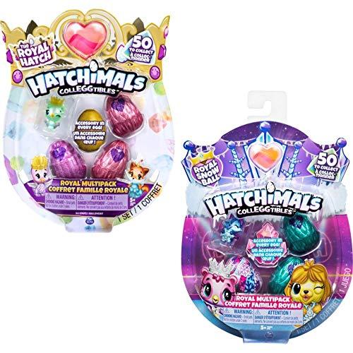 Hatchimals CollEGGtibles Royal Multipack mit 4 Hatchimals und Zubehörteilen, 2 Design - Varianten möglich