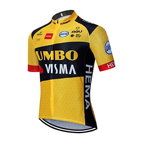 CHHBS Equipo Profesional Maillot Ciclismo,Camiseta de Manga Corta de Bicicletas para Hombres