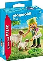 PLAYMOBIL 9356 農家の女性とヒツジの親子 スペシャル