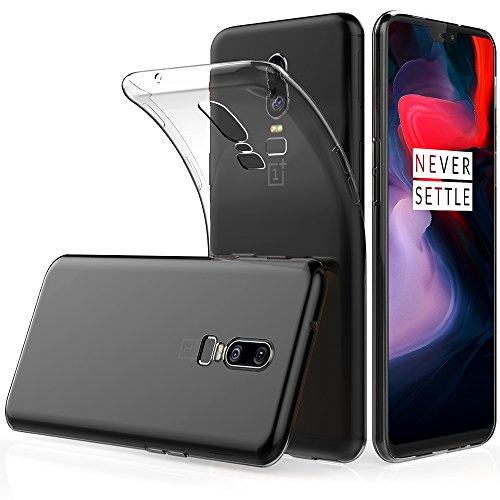 Peakally OnePlus 6 Hülle, Soft Silikon Dünn Transparent Hüllen [Kratzfest] [Anti Slip] Durchsichtige TPU Schutzhülle Case Weiche Handyhülle für OnePlus 6 6.28