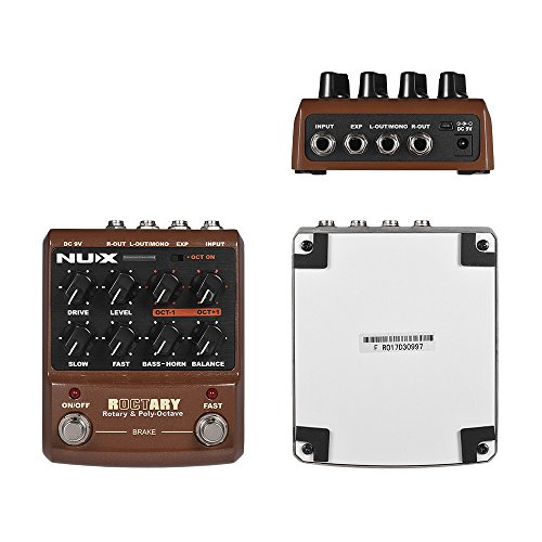 Bedler ROCTARY FORCE 2-in-1 Rotary Speaker Simulator & Polyphonic Octave Guitar Effect Pedal True Bypass