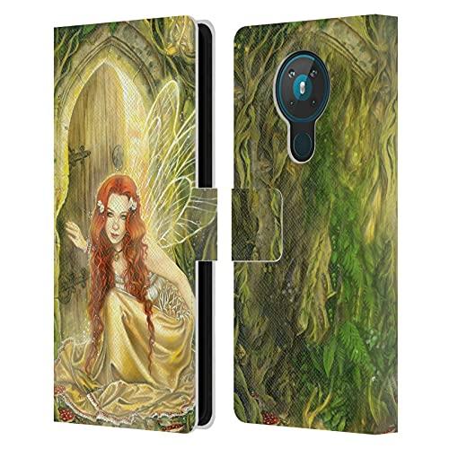 Head Case Designs Licenciado Oficialmente Selina Fenech Umbral Hadas Carcasa de Cuero Tipo Libro Compatible con Nokia 5.3