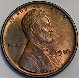 1910 P Lincoln Wheat Penny Cent MS-62