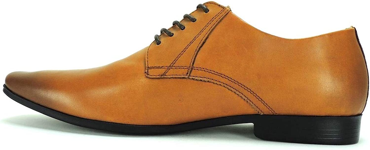 Bar III Mens Dion Leather Lace Up Dress Oxfords
