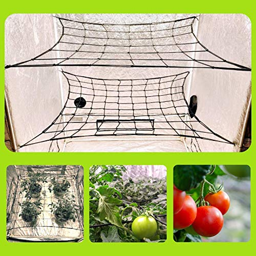 MEGALUXX 2PK Dual Layer Netting for 4x4 5x5 4x2 Grow Net Trellis Netting Grow Tent Net