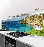 MyMaxxi | selbstklebende Küchenrückwand Folie ohne bohren | Aufkleber Motiv Landschaft 05 | 60cm hoch | adhesive kitchen wall design | Wandtattoo Wandbild Küche | Wand-Deko | Wandgestaltung