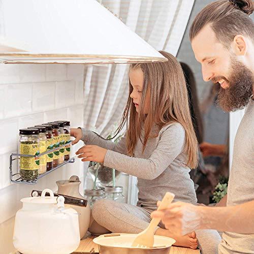 MelodyHouse4個セット調味料ラックステンレス壁掛けスパイスラック収納ラックキッチン貼ってはがせるマルチラック棚収納マジックフックシート