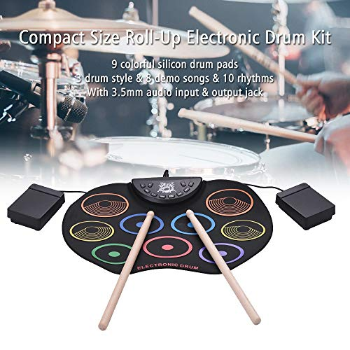 Lowest Prices! Saalising Color Hand Roll-up Drum Kit Roll up Drum Beginner Children's Percussion Ins...