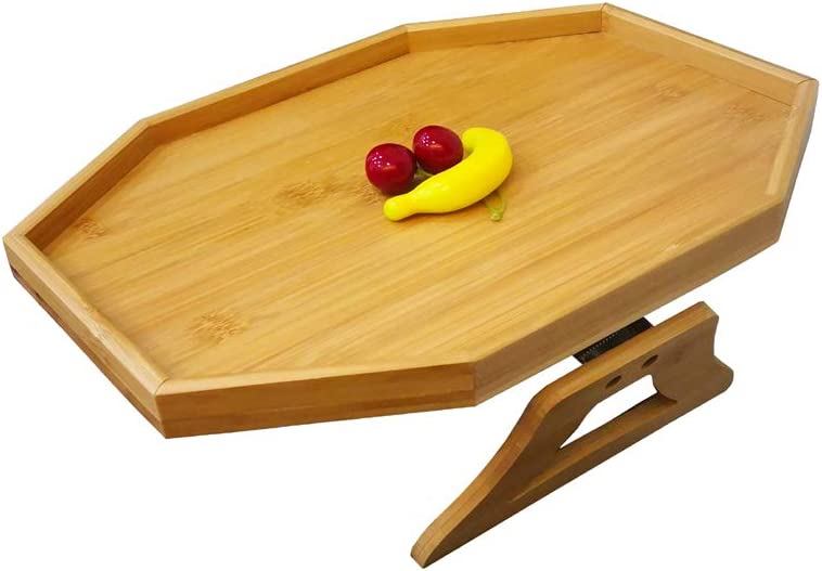 BAMJIUHAO Side Factory outlet Tables Natural Bamboo Clip-On Tray Max 45% OFF Armrest Sofa B