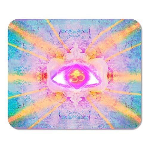 Mousepad Computer-Notizblock Büro-Intuition des dritten Auges Mystisches Zeichen-heilendes Chakra-Karma-Hauptschulspiel-Spieler-Computer