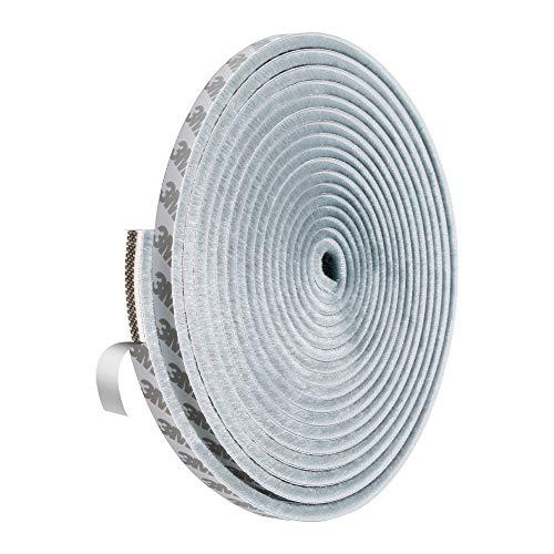 Bürstendichtung Selbstklebend Türbürste Bürstenleiste - Winddicht Staubdicht Dichtungsband Bürstendichtung Rolladen, für Schiebetüren, Fenster und Garderobe. 5m(L) x0.9 cm(B) X0.5cm(D).(Grau)