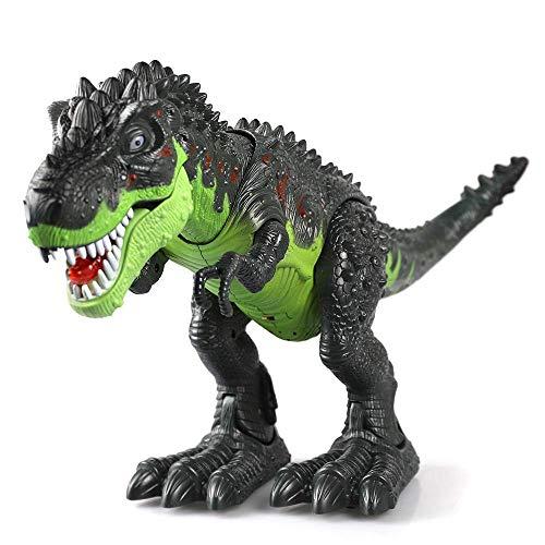 JDD Dinosaurier, KINGBOT Electronic Dinosaurier, Spielzeug, Walking Dinosaurier mit Blitzen und Tönen für Jungen