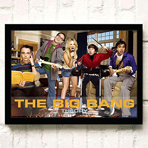 PCCASEWIND Frameless Painting 50X70Cm, The Big Bang Theory Movie Wall Artist Home Decoration Canvas Painting Nordic Hotel Bar Cafe Living Room Poster,Pc-1198