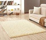 axnx Teppiche Superweiche Seidenteppich Indoor Modern Shag Area Teppich Seidige Teppiche Schlafzimmer Bodenmatte Baby Kinderzimmer Teppich Kinderteppich 40X60Cm Beigegelb