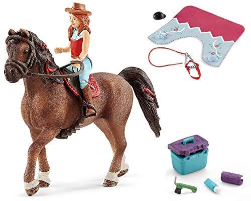 3in1-SET Schleich Pferde Horse Club - Hannah & Cayenne mit Decke Halfter und Pflegeset