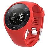 Baohooya Correa para Polar M200 Fitness Watch - Deportiva Moda Silicona Pulsera - Repuesto Correa de Reloj Banda de Reloj Watch Band Accesorios para Hombre Mujer (Rojo)