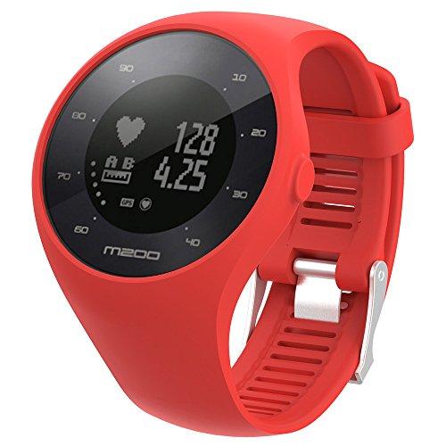 MISSWongg_Correa de reloj - Silicona - el Reloj Polar M200 - MWBD002 (Rojo, 20MM)