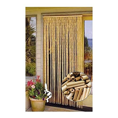 LSXIAO Bambú Cortinas De Cuentas, Puerta Tabique, Bohemio Riel Colgante De Madera Listo para Colgar Se USA para Decorar La Entrada. Personalizable (Color : Natural, Size : 110x210cm 70 Strands
