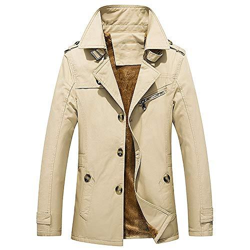N\P Chaqueta de invierno de felpa casual de los hombres cortavientos abrigo de algodón