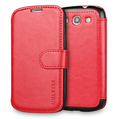 Mulbess Cover per Samsung Galaxy S3, Custodia Pelle con Magnetica per Samsung Galaxy S3 / S3 Neo Caso, Vino Rosso