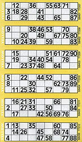 600 Bingo Tickets - Pad of Yellow 6 to View Flyers