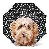 Goldendoodle Dog Print Umbrella - Windproof Travel Folding Golf Umbrella - Best Dog Mom Gifts