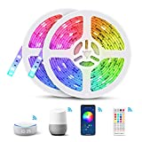 10M WIFI Striscia LED Alexa, TASMOR Smart Striscia LED RGB Impermeabile Compatibile con Al...