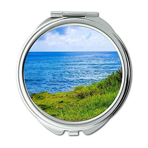 Yanteng Spiegel, Taschenspiegel, Strand Wolken Küste, Taschenspiegel, Tragbare Spiegel