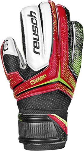 Reusch Soccer Receptor RG Finger Support Junior Goalkeeper Glove, 5, Pair