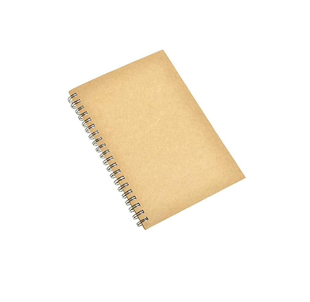 Spiral Sketch Book Kraft Cover Blank Sketch Pad Wirebound Sketching for Drawing Painting 5.5x8.5 -Inch(1 Pack) 180 Pages/ 90 Sheets