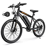 Electric Bike, TotGuard Electric Bike for Adults, 26' Ebike 350W Adult Electric Bicycles, 19.8MPH 37.3Miles Electric Mountain Bike, 36V 10.4Ah Battery, Suspension Fork, Shimano 21 Speed Gears