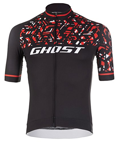 Ghost Factory Racing Jersey Short Night Black/riot red/Star White (XL)