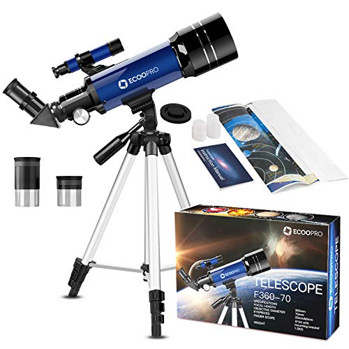 Our #7 Pick is the ECOO 70mm Telescope for Kids Beginners Adults