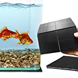 """SunGrow Non-Slip Grip Pads, 4"""" x 4"""", Aquarium Grippers Perforated into Smaller Squares, 3mm Thick, Black Rubber Sheets"""