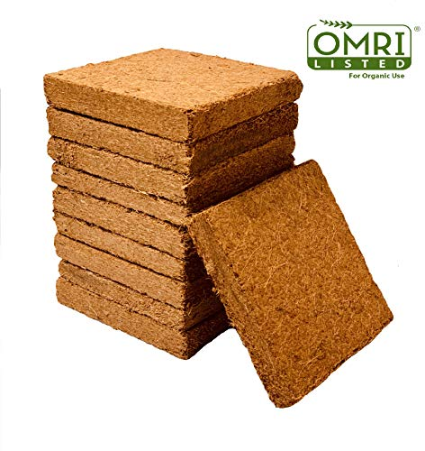 Coco Bliss Premium Coco Coir Brick 250g, OMRI Listed for Organic Use (10 Bricks)