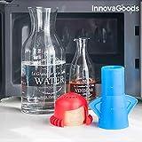 InnovaGoods Limpiador de Microondas, Polipropileno, Azul, 8x11x13 cm