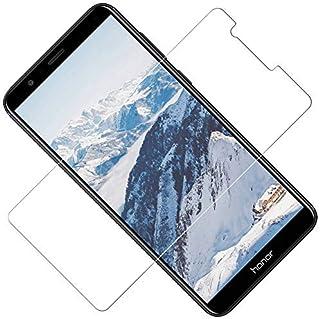 TOCYORIC Protector Pantalla Huawei Honor 7X [3 Pack], Cristal Templado Honor 7X, Vidrio Templado con [Alta Definicion] [9H Dureza] [Sin Burbujas] [Anti-Huella] [2.5D Borde Redondo]
