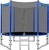femor trampolino da giardino, Ø 244/305 cm trampolino per bambini, set completo tappeto elastico con rete di sicurezza, scaletta, copertura bordi e accessori, test di sicurezza tÜv rheinland(Ø 244 cm)