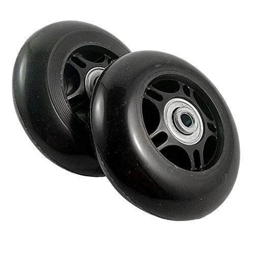 Gesh 2 Set Luggage Suitcase Replacement Wheels OD 80mm