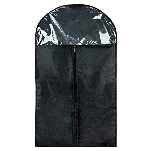 Hangerworld Lot de 3 Housses de Protection et Rangement à Dessus Transparent pour Costumes/Manteaux