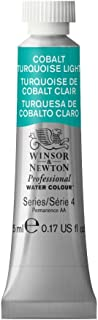 Winsor & Newton Professional Water Colour Paint, 5ml tube, Cobalt Turquoise Light