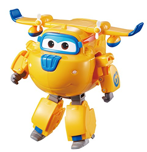 Super Wings - Transforming Donnie Toy Figure | Plane to Bot | 5' Scale | Best Birthday Gifts for 3 4 5 Year Old Kids | Fun Flying Airplane Toys for Preschool Play