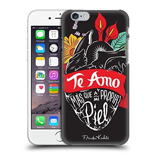 Head Case Designs Licenza Ufficiale Frida Kahlo Cuore Tipogragia Cover Dura per Parte Posteriore Compatibile con Apple iPhone 6 / iPhone 6s