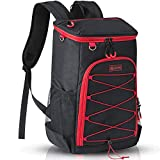 Sougayilang Insulated Cooler Backpack 30 Cans Large Capacity Backpack Cooler Lightweight Leakproof Soft Cooler Bag to Picnics, Camping, Hiking, Beach, Park, Fishing, Trips, (Black)