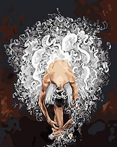LRZZDP Pintura Por Números Pintura Bailarina De Ballet Diy Lienzo Cuadro Pintado A Mano Pintura Al Óleo Música Chica Decoración Del Hogar Szgd186